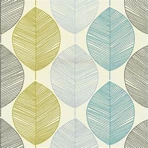 Arthouse Retro Leaf Wallpaper