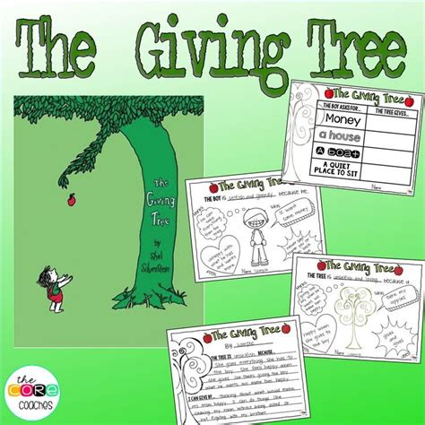 the giving tree interactive read aloud lesson plans and 617 | 146458b51ef87419b91f5f89fdb45775 giving tree activities for kids the giving tree lesson plans