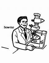 Community Coloring Helpers Microscope Scientist Getdrawings Template Drawing Netart sketch template