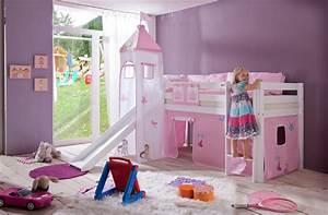Spielbett Mädchen : kinderbett m dchen jugendbett rosa hochbett prinzessin ~ Pilothousefishingboats.com Haus und Dekorationen