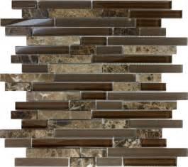Mosaic Tiles Kitchen Backsplash Sample Brown Glass Linear Mosaic Tile Wall Kitchen Backsplash Spa Ebay