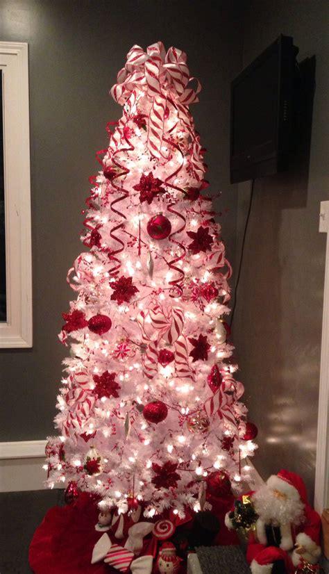 poinsettia  candy cane christmas tree christmas