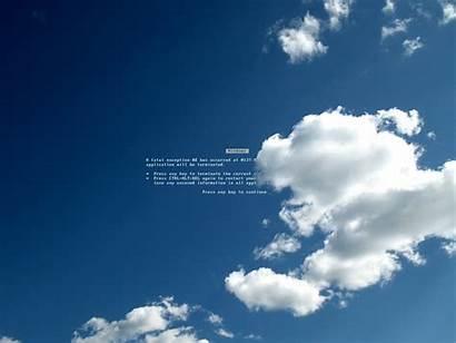 Windows Screen Death Microsoft Clouds Sky Desktop