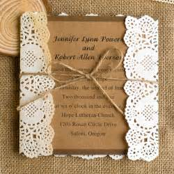 rustic wedding invitations lace wedding invitations best choice for vintage and rustic weddings