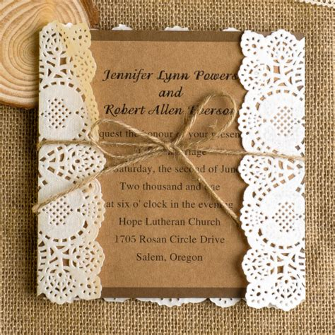 Lace Wedding Invitationsbest Choice For Vintage And