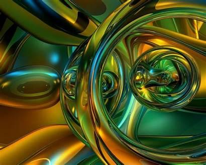 Glass Desktop 3d Background Shapes Yellow Dark