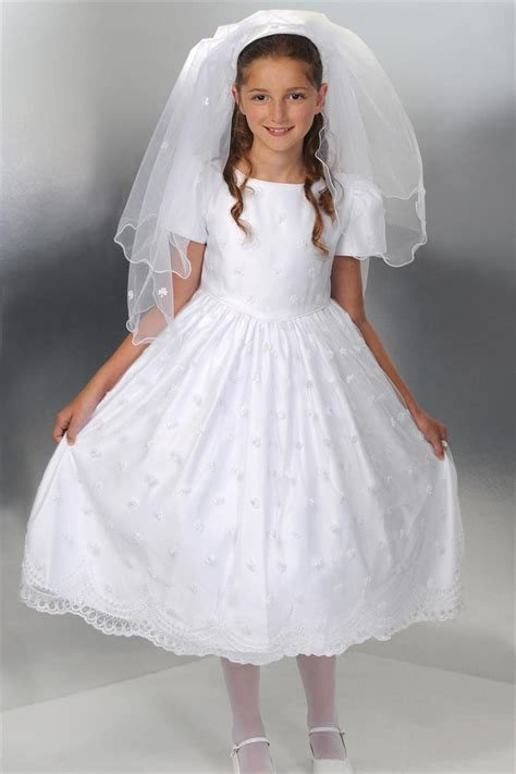 fit embroidered top communion dress with shamrocks