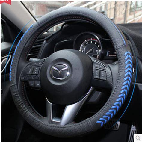2015 mazda 3 steering wheel cover fit for 2014 2015 mazda 3 bm steering wheel glove cover