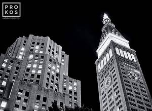 The MetLife Building at Night (B&W)