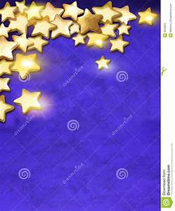 Gold Stars Over Blue Background Stock Photo - Image: 4523850