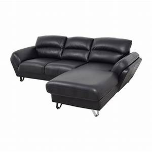 51 off contemporary faux leather two piece sectional With two piece sectional sofa sale