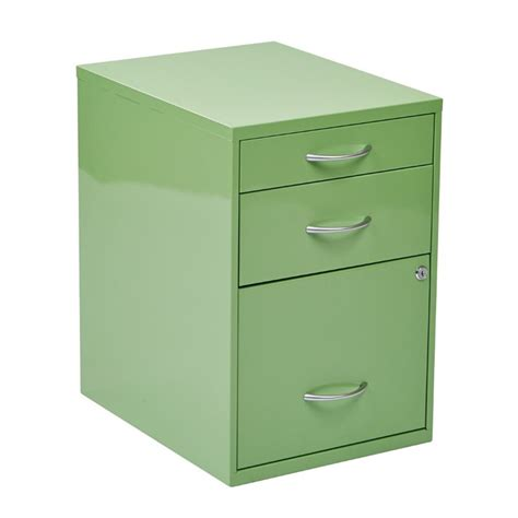 Three Drawer Filing Cabinet Metal by 3 Drawer Metal File Cabinet In Green Hpbf6