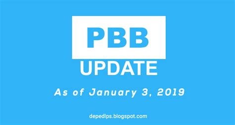 Pbb 2017 Status Update As January 3, 2019