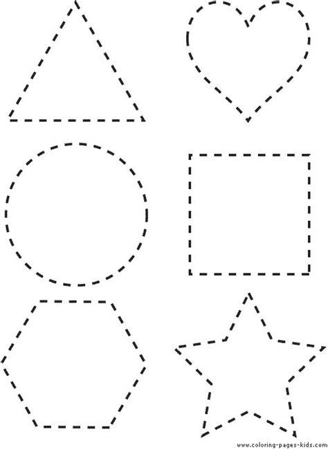 printable shapes printable shapes coloring pages
