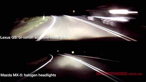 xenon halogen headlights vs comparison adaptive headlight bi a3