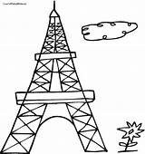 Tower Eiffel Coloring Pages Drawing Outline Easy Paris France Adult Printable Getdrawings Clipartmag Getcolorings Computer French sketch template