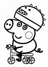 Pig Coloring Peppa Pages George Printable Anywhere Won sketch template