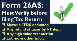 Form 26as verify before filing tax return 2016 for Documents for filing tax return