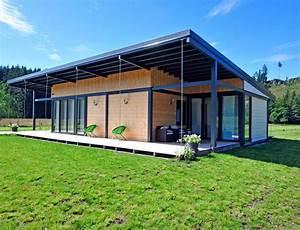 maison bois plain pied type loft nos maisons ossatures With facade maison plain pied3
