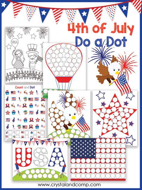 4th of july theme preschool 4th of july preschool do a dot printable 775