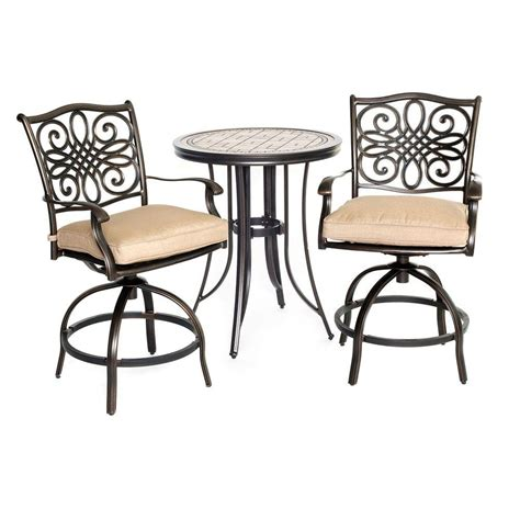hanover monaco 3 patio bistro set with