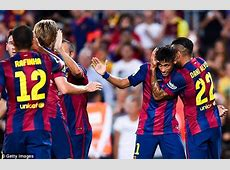 Neymar scores backheel and cheeky chip for Barcelona on