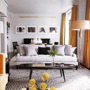 elle decor living rooms black white geometric rug