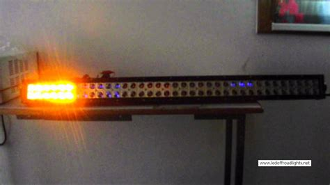 dreamer 38 inch 216w cree led strobe streamline light bar