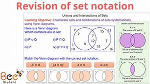 Revision Of Set Notation