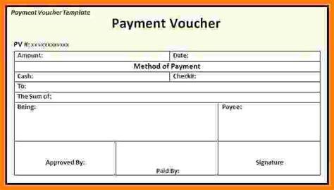 salary payment voucher template sales slip template