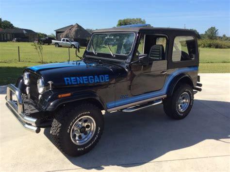 jeep cj renegade 1985 jeep cj7 renegade classic jeep cj 1985 for sale