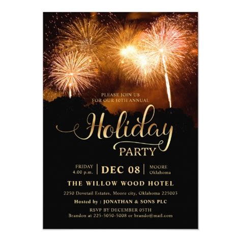 Year end Elegant Fireworks Corporate Holiday Party