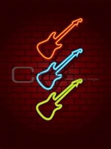 Image Neon guitar sign from Crestock Stock s