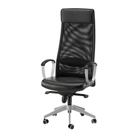 chaises bureau ikea markus chaise pivotante glose noir ikea