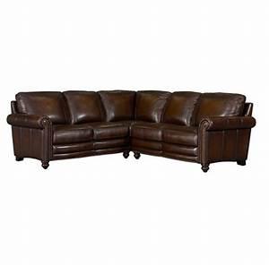 Hamilton leather sectional sofa by bassett furniture for Sectional sofa hamilton