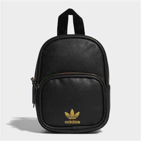 adidas faux leather mini backpack black adidas