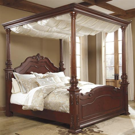 Bed Drape - canopy bed curtains king with majestic color