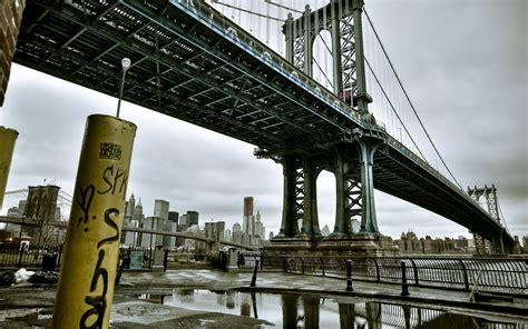 graffiti bridges  york city manhattan bridge wallpaper
