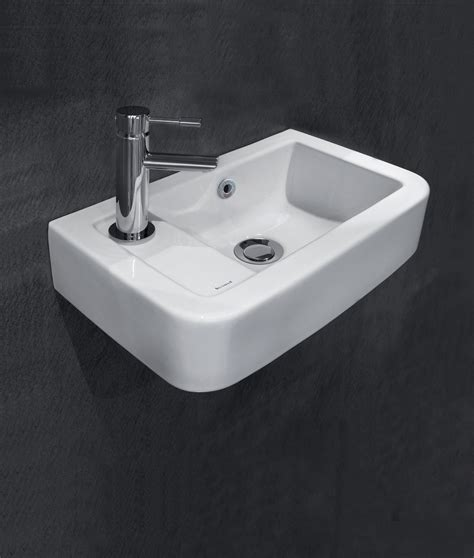 space saver basin silverdale henley 410mm 1 tap hole left hand micro basin silhe605