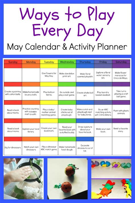 ways to play everyday may activity calendar for 478 | may preschool activity calendar kids