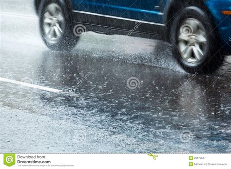 car  wet road royalty  stock photography image