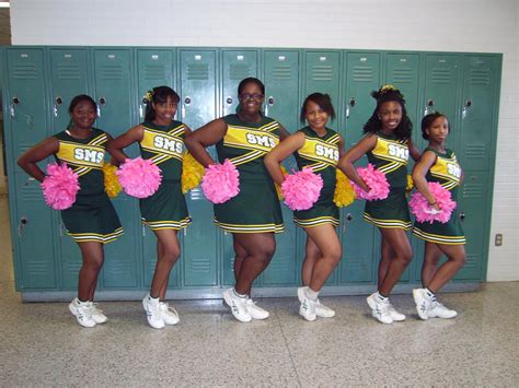 Middle school cheerleading uniform