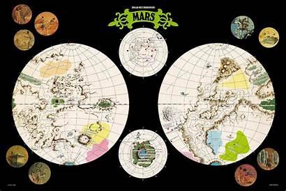 Mars Barsoom John Carter Map Erbzine Poster