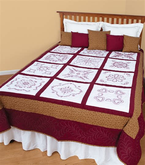 cross stitch quilt blocks sted white sler quilt blocks 18 quot x18 quot 12 pkg vintage