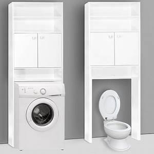 Meuble De Rangement Pour Salle De Bain : meuble armoire tag re de rangement pour salle de bain blanc ~ Teatrodelosmanantiales.com Idées de Décoration