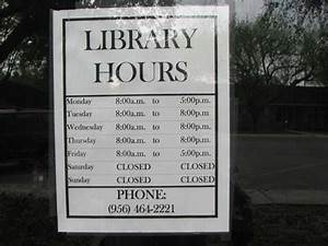 Library Door Sign & No UnSupervised Students In The ...
