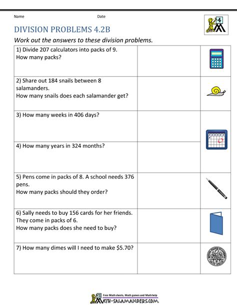 math worksheet for 4th grade division 4th grade math worksheets division world of reference