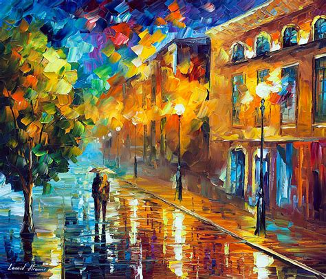 morning palette knife oil painting  canvas
