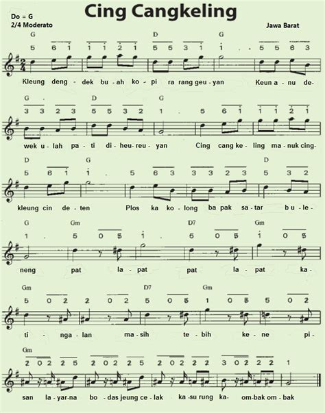 Musik gambang kromong ini biasanya menggunakan tangga nada pentatonik china. Tangga Nada Pentatonis Pada Lagu Suwe Ora Jamu dan Lir Ilir