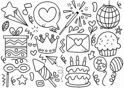 Doodle Premium Freepik Compleanno Verjaardag Mano Disegnato